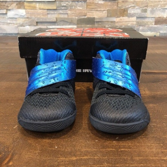 timeless design e4e39 68895 Nike Kyrie 2 Toddler Shoes Black/Blue Glow/Anthrac NWT